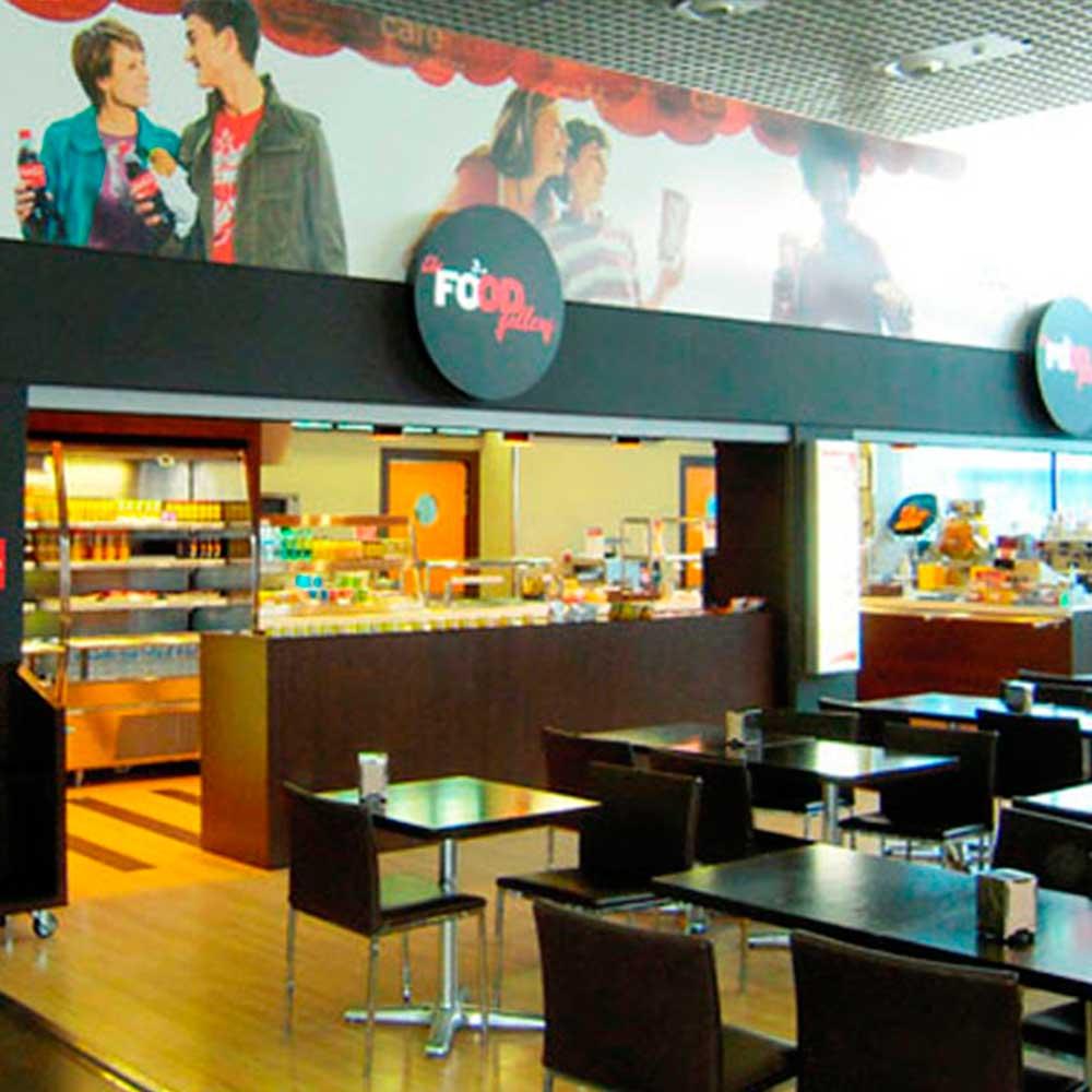 Food gallery aeropuerto de reus coetasa empresa constructora de obra civil y reformas en tarragona - Reforma local comercial ...