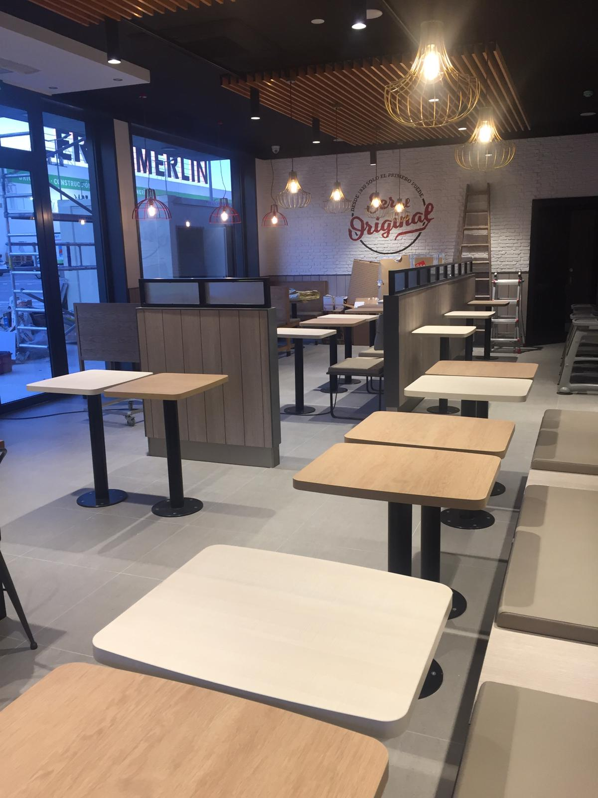 Interio obra civil KFC Castellón
